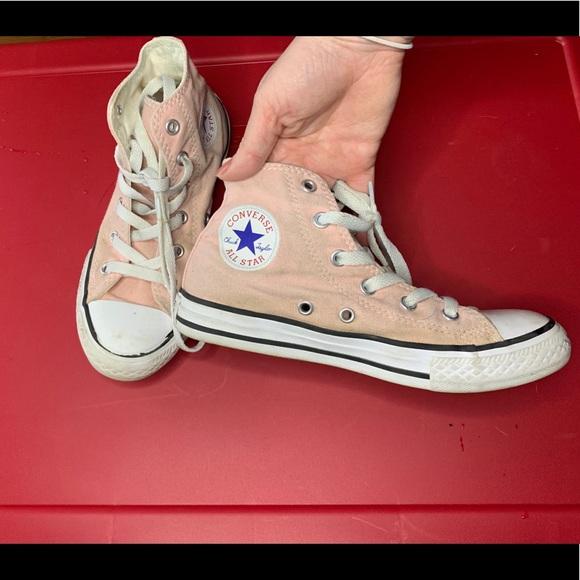 Converse Shoes | Light Pink High Top